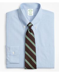 Brooks Brothers - Milano Slim-fit Dress Shirt, Non-iron Sidewheeler Gingham - Lyst