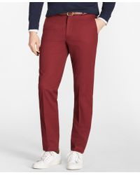 Brooks Brothers - Clark Fit Piece-dyed Supima® Cotton Stretch Chinos - Lyst