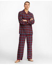 Brooks Brothers Red Plaid Flannel Pajamas