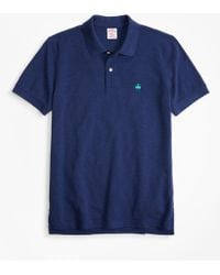 Brooks Brothers Original Fit Supima Cotton Performance Polo Shirt - Blue
