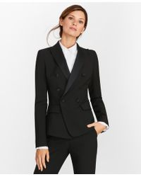 Brooks Brothers - Petite Stretch-wool Crepe Double-breasted Tuxedo Jacket - Lyst