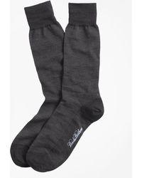 Brooks Brothers - Merino Wool Mini Dot Crew Socks - Lyst
