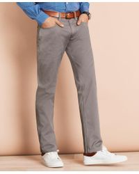 Brooks Brothers Herringbone Five-pocket Pants - Gray