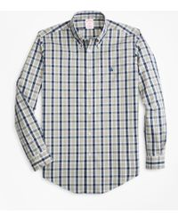 Brooks Brothers - Non-iron Madison Fit Brushed Plaid Sport Shirt - Lyst