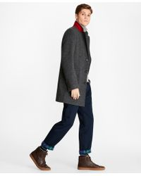 Brooks Brothers - Dobby Lambswool Topcoat - Lyst