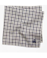 Brooks Brothers - Check Pocket Square - Lyst