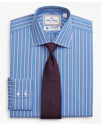 Brooks Brothers Luxury Collection Madison Classic-fit Dress Shirt - Blue