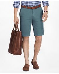 "Brooks Brothers - Garment-dyed 11"" Lightweight Cotton Bermuda Shorts - Lyst"