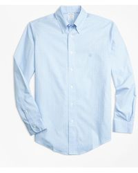 Brooks Brothers - Non-iron Regent Fit Mini-plaid Sport Shirt - Lyst
