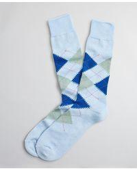 Brooks Brothers Argyle Socks - Blue