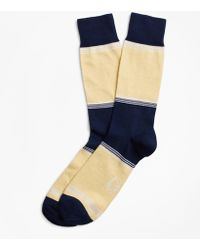 Brooks Brothers - Striped Color-block Crew Socks - Lyst