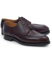 Brooks Brothers Peal & Co. Algonquin Pebble Grain Rubber Soles - Brown