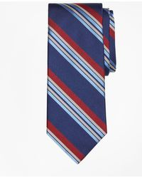 Brooks Brothers - Multi-textured Sidewheeler Stripe Tie - Lyst
