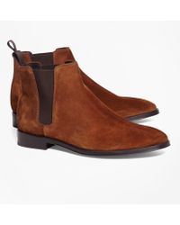 Brooks Brothers - Suede Chelsea Boots - Lyst
