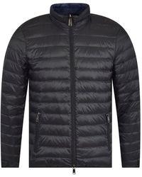Emporio Armani High-neck Shell-down Jacket - Black