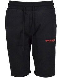 True Religion Black Logo Jogger Shorts