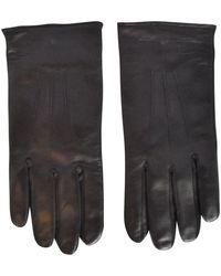 Emporio Armani Black Leather Gloves