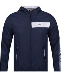 BOSS - Navy Jeltech Lightweight Jacket - Lyst