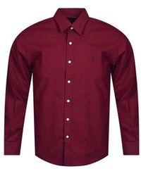 Polo Ralph Lauren - Burgundy Wine Coloured Long Sleeve Shirt - Lyst
