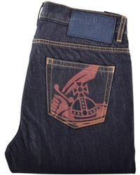 Vivienne Westwood - Raw Blue Tapered Jeans - Lyst