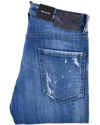 DSquared² - Blue Distressed Patch Cool Guy Jeans - Lyst