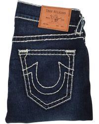 True Religion Dark Wash Big Stitch Rocco Jeans - Blue