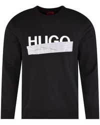 HUGO Dicago Black Tape Logo Sweatshirt