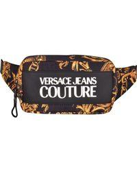 Versace Jeans Couture Greca Print Waist Bag - Black