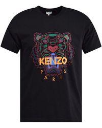 KENZO Tiger Logo T Shirt - Black