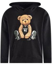 DOMREBEL Teddy Bear Print Hoodie - Black