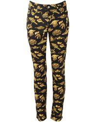 Moschino Black/gold Ufo Trousers