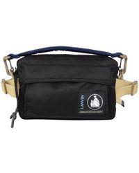 Lanvin Black Duvet Belt Bag