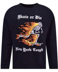 Haculla Black 'skate Or Die' Sweatshirt