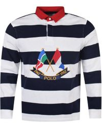 Polo Ralph Lauren - Navy/white Rugby Polo Shirt - Lyst
