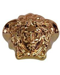 Versace Gold Palazzo Medusa Head Ring - Metallic