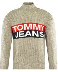 Tommy Hilfiger Oatmeal Logo Panel Sweater - Multicolor