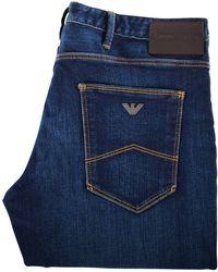 Emporio Armani Dark Wash J06 Slim Fit Jeans - Blue