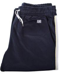AMI - Navy Bi-colour Sweatpants - Lyst