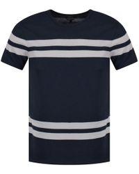 A.P.C. Apc Blue/grey Stripe T-shirt