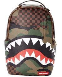 Sprayground Brown/green Chequered Camo Backpack
