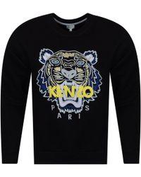 KENZO - Black/yellow/blue Tiger Logo Sweatshirt - Lyst