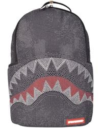 Sprayground Trinity Rhinestone Shark Limited Edition Backpack - Black