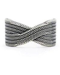 Serge Denimes Silver Mawashi Ring - Metallic