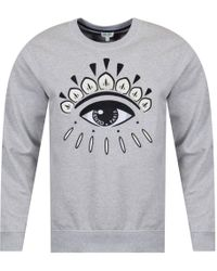 KENZO - Light Grey Eye Logo Sweatshirt - Lyst