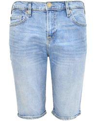 True Religion Mid Wash Rocco Shorts - Blue