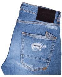 PRPS Medium Wash Distressed Windsor Crop Jeans - Blue