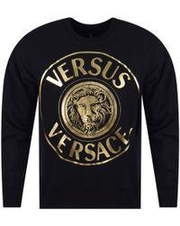 Versus - Versace Versus Black/gold Lion Print Sweatshirt - Lyst