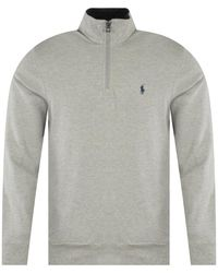 Polo Ralph Lauren Grey Half-zip Sweater