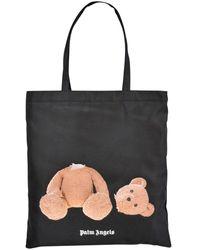 Palm Angels Black Shopper Bag