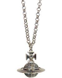 Vivienne Westwood Silver-black Suffolk Pendant